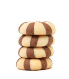 Biscuits of a chocolate cloves. Stack. Stock Image