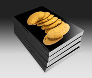 Biscuits with chocolate drops Royalty Free Stock Photos