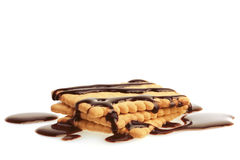 Biscuits with Chocolate. Stock Photo