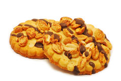 Biscuits with chocolate and nuts Royalty Free Stock Image