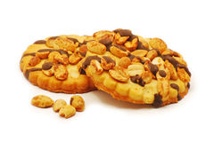 Biscuits with chocolate and nuts Stock Image