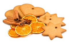 Biscuits with  cinnamon and  orange dried Royalty Free Stock Photos