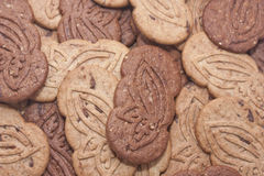 Biscuits with cocoa and chocolate. Lots of cakes overlapping Stock Image