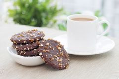 Biscuits and Coffee. Coffee and biscuits on the table Stock Images
