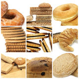 Biscuits collage. A collage of nine pictures of different biscuits and pastries Stock Photo