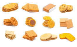 Biscuits collage Royalty Free Stock Images