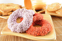 Biscuits colorés Photographie stock