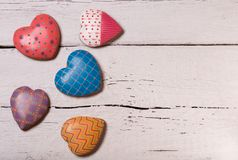 Biscuits colorés de pain d'épice Photo stock