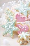 Biscuits colorés en pastel Images stock