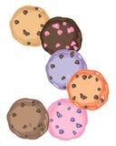 Biscuits colorés Image libre de droits