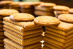 Biscuits construction 3 Royalty Free Stock Photo
