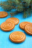 Biscuits cookies on a Christmas tree Stock Images