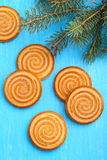 Biscuits cookies on a Christmas tree Royalty Free Stock Photo