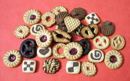 Biscuits. Cookies. Confectionery. Snacks. Sweet food Stock Photography