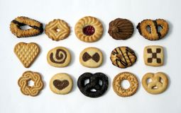 Biscuits. Cookies. Confectionery. Snacks. Sweet food Stock Photos