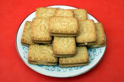 Biscuits. cookies. Custard Cream Biscuits or cookies Stock Photography