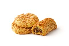 Biscuits covered by sesame Stock Images