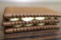 Biscuits crèmes Photos libres de droits