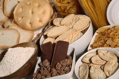 Biscuits and crackers Royalty Free Stock Images