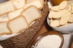 Biscuits crackers flour Royalty Free Stock Photography