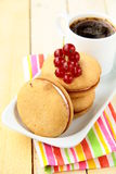 Biscuits with cream Royalty Free Stock Photos