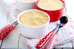Biscuits crumble topping berry dessert Stock Photos