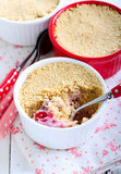 Biscuits crumble topping berry dessert Stock Images