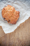 Biscuits on crumpled paper Stock Photos