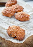 Biscuits on crumpled paper Royalty Free Stock Photo