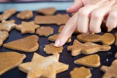 Biscuits crus de Noël Image stock