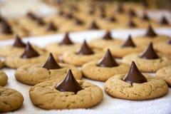 Biscuits cuits au four frais Images libres de droits