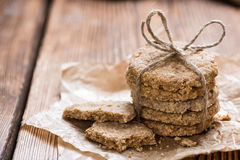 Biscuits cuits au four frais d'avoine Photos libres de droits