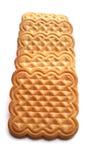 Biscuits cuits au four frais d'isolement sur le fond blanc Images libres de droits