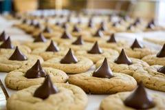 Biscuits cuits au four frais de beurre d'arachide Image stock