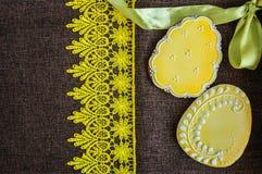 Biscuits décorés d'oeuf de pâques Images libres de droits