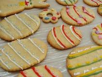 Biscuits décorés de Pâques Photo stock