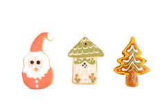 Biscuits décoratifs de Noël Image libre de droits