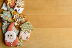 Biscuits décoratifs de Noël Photos stock