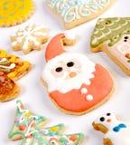 Biscuits décoratifs de Noël Photo libre de droits
