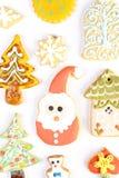 Biscuits décoratifs de Noël Image stock