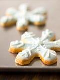 Biscuits d'éclaille de neige de Noël image stock