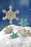 Biscuits d'éclaille de neige de Noël Images stock