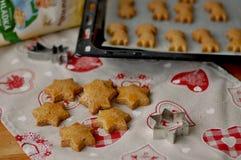 Biscuits d'étoile avec le cinemon Image libre de droits