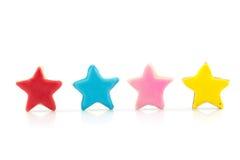 Biscuits d'étoile de couleur photos stock