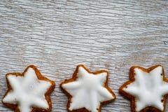 Biscuits d'étoile de Noël image stock