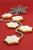 Biscuits d'étoile de Noël photos libres de droits