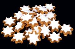 Biscuits d'étoile de Noël Photo libre de droits