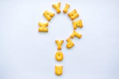 Biscuits d'alphabet Image stock