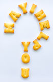 Biscuits d'alphabet Photo libre de droits