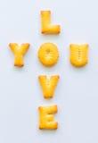 Biscuits d'alphabet Photo libre de droits